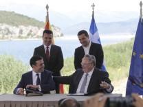 Namensstreit zwischen Griechenland und Mazedonien