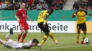 U17-Spieler Youssoufa Moukoko von Borussia Dortmund trifft gegen Bayern München.