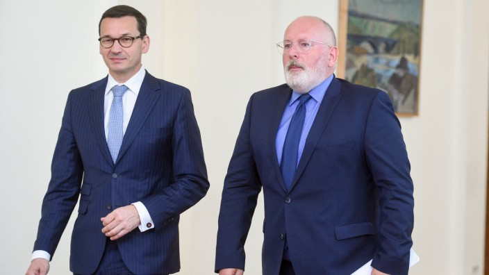 Frans Timmermans in Warsaw Frans Timmermans the First Vice President of the European Commission and