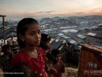 Flüchtlinge in einem Camp in Bangladesch