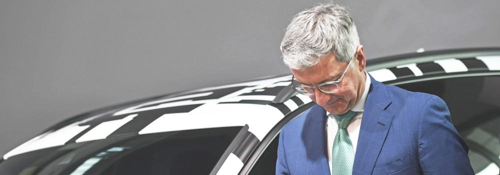 Rupert STADLER Vorstandsvorsitzender Enttaeuschung Frust enttaeuscht frustriert niedergeschlagen