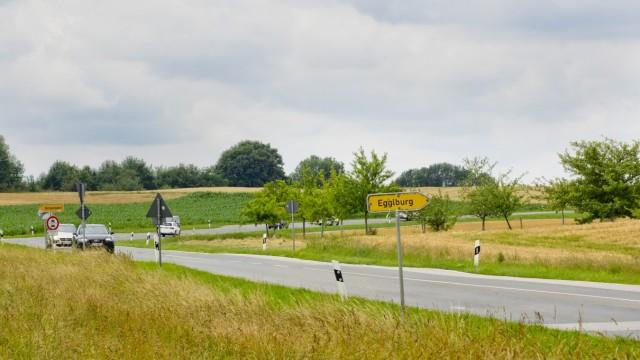 Alte B304 bei Hörmannsdorf wg. Sanierung