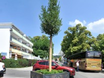 Herrsching: Seestrasse Blumenkübel