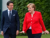 Italienischer Ministerpräsident Conte in Berlin