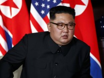 Nordkoreas Machthaber Kim Jong-un beim Gipfeltreffen mit Donald Trump
