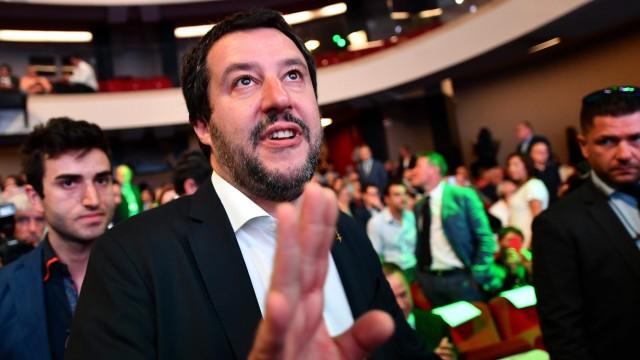 Italiens Innenminister Matteo Salvini 2018 in Rom