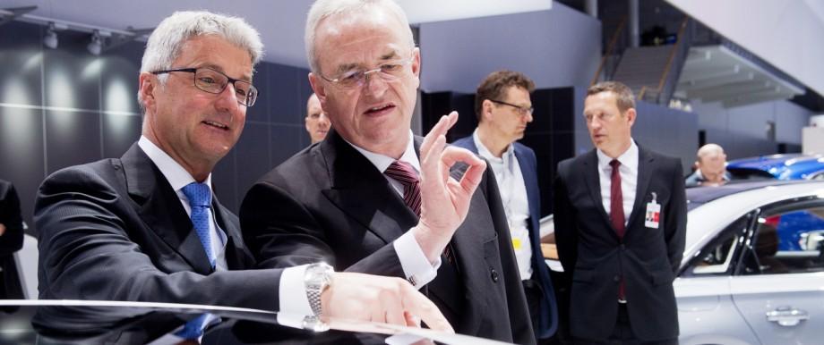 Audi-Chef Rupert Stadler und VW-Vorstand Martin Winterkorn 2014