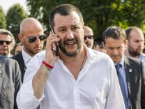 June 15 2018 Turin Torino Italy Matteo Salvini the Deputy Prime Minister of Italy and Minist