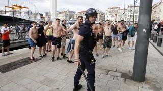 Russische Hooligans bei der Fußball-EM