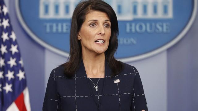 UN-Botschafterin Nikki Haley