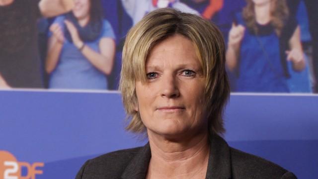 ZDF-Sportreporterin Claudia Neumann 2016 in Berlin