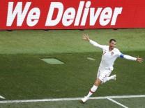 Christiano Ronaldo bei der WM 2018 gegen Marokko