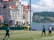 Die Deutsche Nationalmannschaft trainiert während der WM 2018 in Russland in Sotschi.
