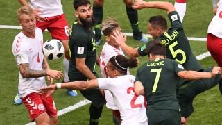 Dänemark gegen Australien bei der Fußball-WM 2018