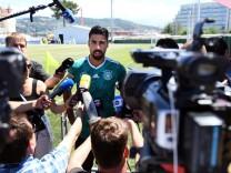 Nationalspieler Sami Khedira vor der Presse bei der WM 2018