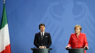 Angela Merkel und Giuseppe Conte 2018 in Berlin