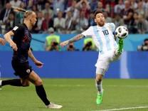 Lionel Messi im WM-Spiel 2018 gegen Kroatien