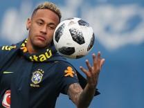 Brasiliens Stürmer Neymar beim Training zur WM 2018