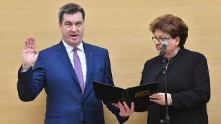Markus Söder 2018 bei der Vereidigung zum bayerischen Ministerpräsidenten.