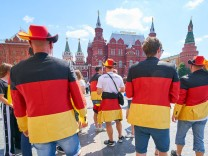 Germany Mexico Soccer Moscow June 17 2018 Fans celebrate at the Historical Museum and Red Squa