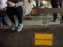 Nächtliches Alkoholverbot am Hauptbahnhof in München, 2017