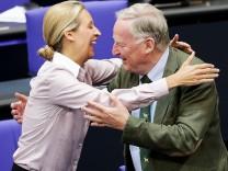 Alice Weidel und Alexander Gauland im Bundestag