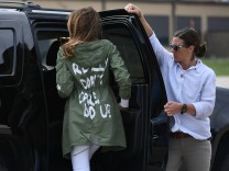 'I really don't care': Melania Trump jackets stuns on migrant visit