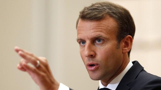 Emmanuel Macron Flüchtlingslager Sanktionen EU Gipfel
