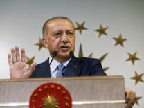 Recep Tayyip Erdogan nach der Präsidentschaftswahl 2018