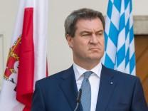 Markus Söder und Sebastian Kurz 2018 auf einer bayerisch-österreichischen Tagung