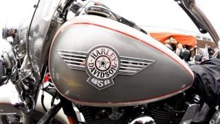 Harley-Davidson bikes are seen at the 'Hamburg Harley Days' in Hamburg