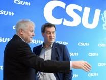 Seehofer und Söder bei CSU-Vorstandssitzung