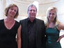 Flötistin Annette Hartig, Organist Matthias Gerstner und Altistin Rita Kapfhammer (von links)