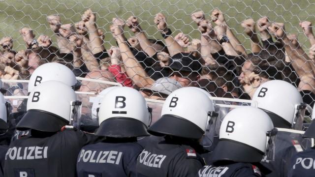Grenzschutzübung in Österreich