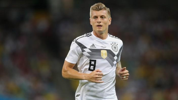 Toni Kroos beim WM-Spiel 2018 gegen Schweden