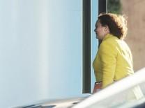 Andrea Nahles kommt zum Koalitionsgipfel ins Kanzleramt