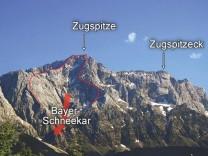 Eibsee-Bergsturz in der Zugspitznordwand