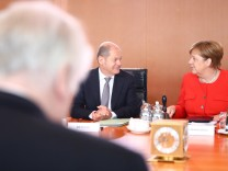 Weekly cabinet meeting at the Chancellery in Berlin
