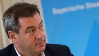 Bayerns CSU-Ministerpräsident Söder bei einer Pressekonferenz