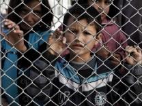 Flüchtlingskind 2016 in Griechenland
