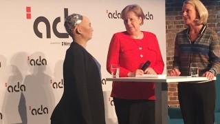 Angela Merkel bei Konferenz 'Morals & Machines'