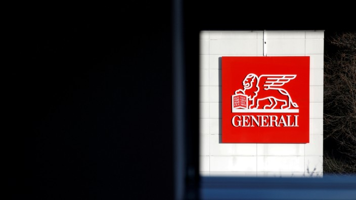 FILE PHOTO: An Assicurazioni Generali SpA's logo is seen on a building of their offices in Saint-Denis