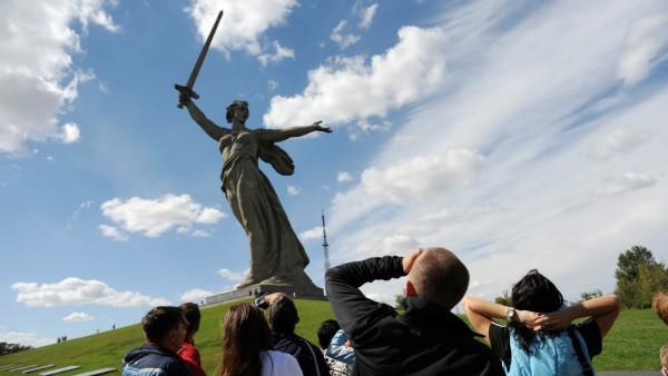 70 Jahre Schlacht von Stalingrad - Gedenkstaette Mamajew-Huegel