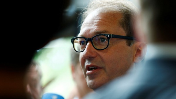 Federal Minister of Transport and Digital Infrastructure Alexander Dobrindt speaks to the media before a Christian Social Union (CSU) board meeting in Munich