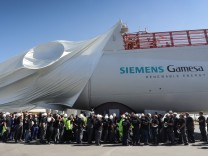 Siemens Gamesa inaugurates plant for wind engine nacelles, Cuxhaven, Germany - 05 Jun 2018
