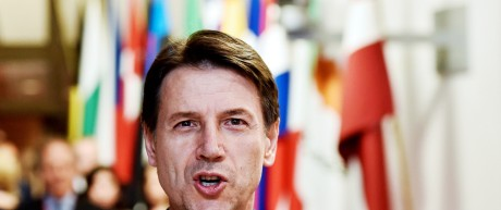 Italian PM Conte leaves a European Union leaders summit in Brussels