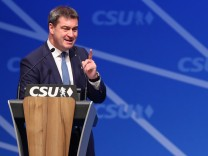 Markus Söder spricht auf dem CSU-Bezirksparteitag in Oberfranken.