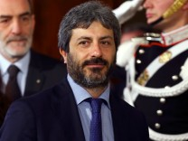 The newly elected Chamber of Deputies President Roberto Fico leaves after the meeting with the Italian President Sergio Mattarella at the Quirinal Palace in Rome