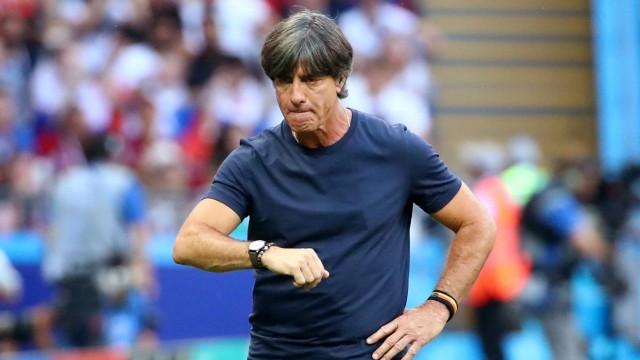 Bundestrainer Jogi Löw beim WM-Spiel 2018 gegen Südkorea