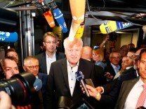 Horst Seehofer nach einer CSU-Vorstandssitzung in München